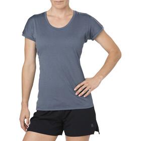 asics Capsleeve Top Koszulka do biegania z krótkim rękawem Kobiety szary